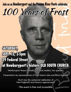 Robert Frost Sept 12 2015 Powow Poster2