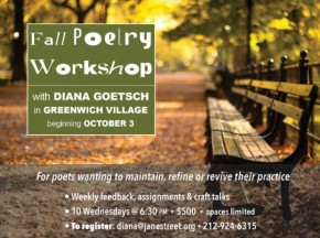 Fall Poetry Workshop with DianaGoetsch