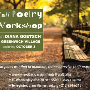 Fall Poetry Workshop with Diana Goetsch